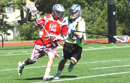 Division senior attack Thomas Nuckel (21) scored twice to help the Long Island's Empire State Games boys lacrosse team go 4-0 at the Hero Tournament. Photo by David Savoie