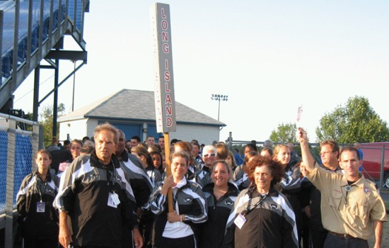 The Long Island contingent prepares to enter UB Stadium at the opening ceremonies of the 2010 Empire State Games.