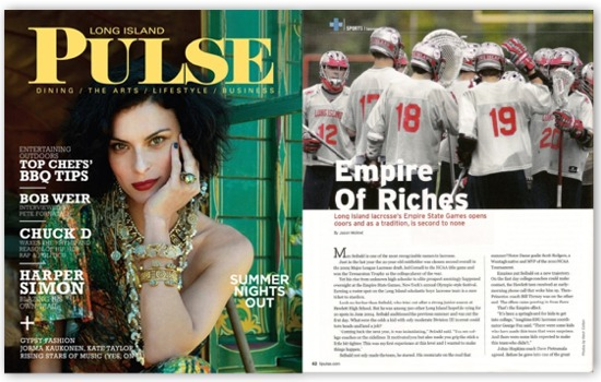 Long Island lacrosse at the Empire State Games is featured in the July 2010 issue of Long Island Pulse magazine