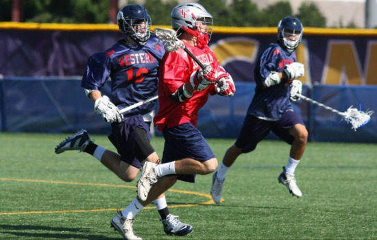 East Islip's Kevin Wendel outpaces the Western defense at the 2010 Empire State Games. Photo by Kyle Laviolette.